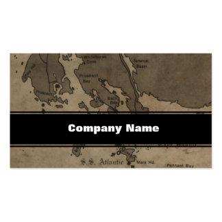 Mapa de la ruina de la nave de la antigüedad del tarjeta personal