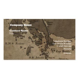 Mapa de la ruina de la nave de la antigüedad del tarjeta de visita