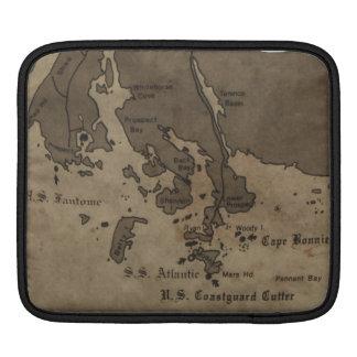 Mapa de la ruina de la nave de la antigüedad del v fundas para iPads