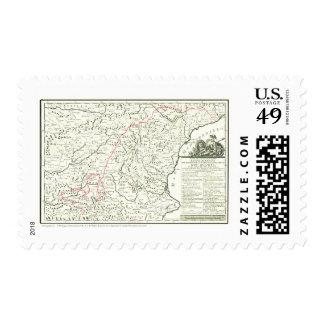 Mapa de la Ruta del Quijote - sellos - Cervantes Postage