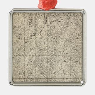 Mapa de la sección de T1415S R3031E el condado de Adorno Navideño Cuadrado De Metal