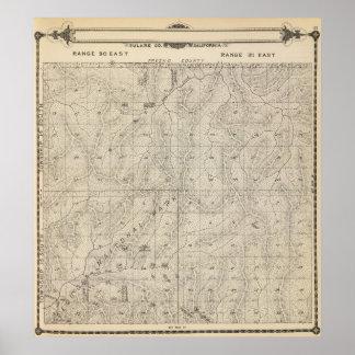 Mapa de la sección de T1415S R3031E el condado de  Póster