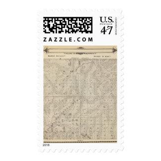Mapa de la sección de T1415S R3031E el condado de Timbres Postales