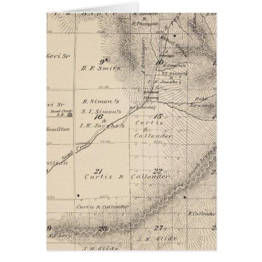 Mapa de la sección de T15S R25E el condado de Tula Felicitacion