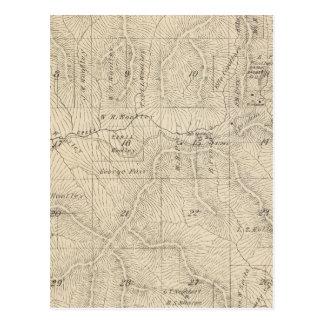 Mapa de la sección de T15S R27E el condado de Tarjetas Postales