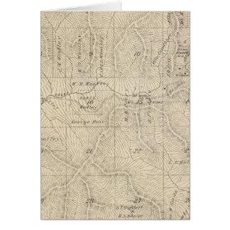 Mapa de la sección de T15S R27E el condado de Tula Tarjeta De Felicitación