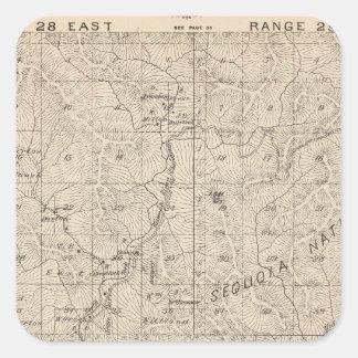 Mapa de la sección de T1617S R2829E el condado de Pegatina Cuadrada