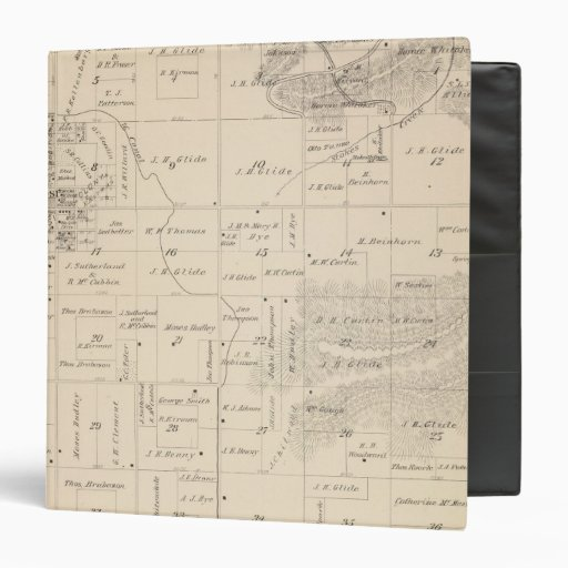 """Mapa de la sección de T16S R25E el condado de Tula Carpeta 1 1/2"""""""