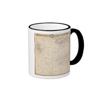 Mapa de la sección de T16S R25E el condado de Tula Tazas De Café