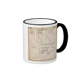 Mapa de la sección de T17S R21E el condado de Tula Tazas De Café