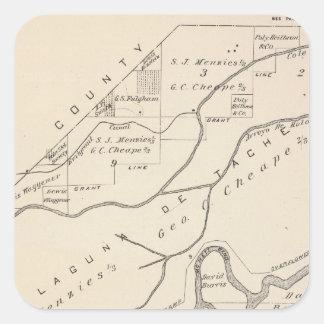 Mapa de la sección de T17S R22E el condado de Pegatina Cuadrada