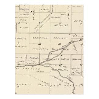 Mapa de la sección de T17S R24E el condado de Postales