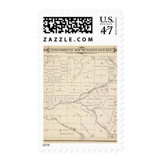 Mapa de la sección de T17S R24E el condado de Sellos Postales