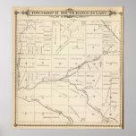 Mapa de la sección de T17S R24E el condado de Tula Póster