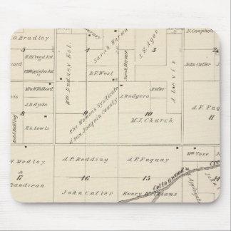 Mapa de la sección de T17S R24E el condado de Tula Tapete De Ratón