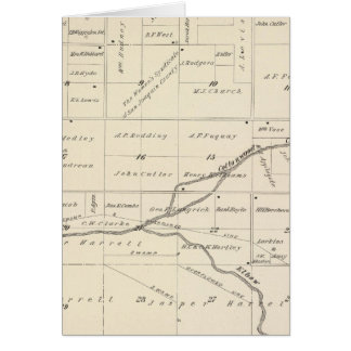 Mapa de la sección de T17S R24E el condado de Tula Tarjeta De Felicitación