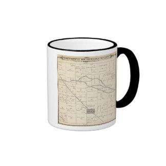 Mapa de la sección de T17S R25E el condado de Tula Tazas De Café