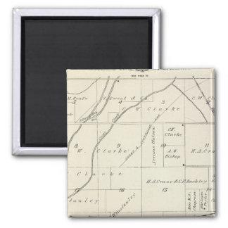 Mapa de la sección de T18S R23E el condado de Tula Imanes De Nevera
