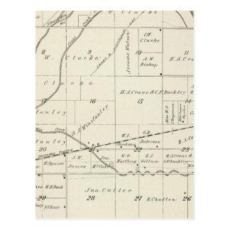 Mapa de la sección de T18S R23E el condado de Tula Tarjetas Postales