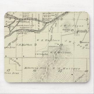 Mapa de la sección de T18S R27E el condado de Tula Alfombrillas De Ratones