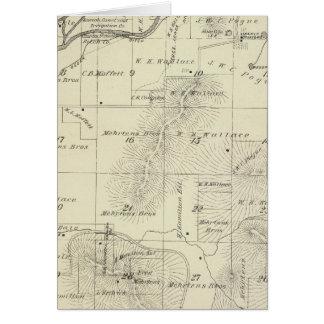 Mapa de la sección de T18S R27E el condado de Tula Tarjetas