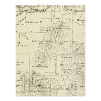 Mapa de la sección de T18S R27E el condado de Tula Postal