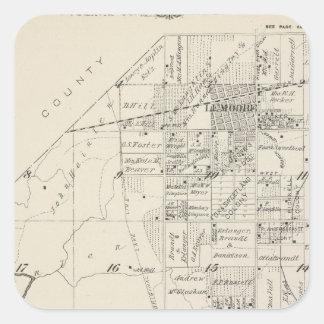 Mapa de la sección de T19S R20E el condado de Pegatina Cuadrada