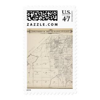 Mapa de la sección de T19S R20E el condado de Sellos Postales