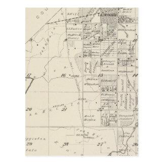 Mapa de la sección de T19S R20E el condado de Tarjetas Postales