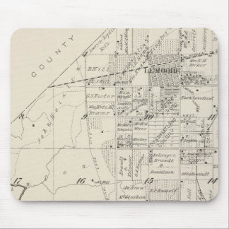 Mapa de la sección de T19S R20E el condado de Tula Mouse Pad