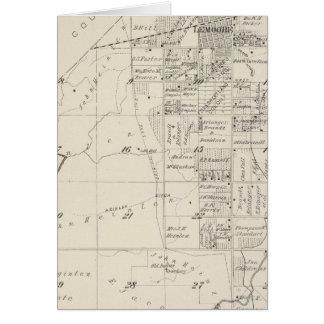 Mapa de la sección de T19S R20E el condado de Tula Tarjeta De Felicitación