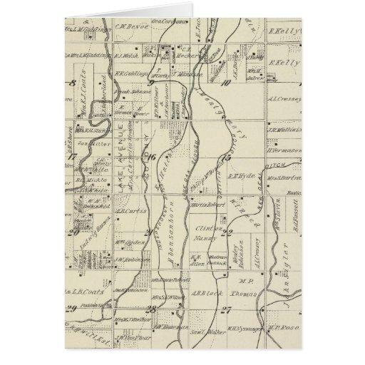 Mapa de la sección de T19S R21E el condado de Tula Tarjetón