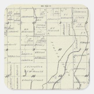 Mapa de la sección de T19S R22E el condado de Pegatina Cuadrada