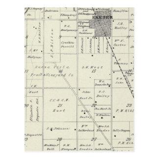 Mapa de la sección de T19S R26E el condado de Tarjetas Postales