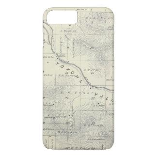 Mapa de la sección de T19S R27E el condado de Funda iPhone 7 Plus