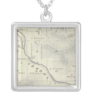 Mapa de la sección de T19S R27E el condado de Tula Collar Personalizado