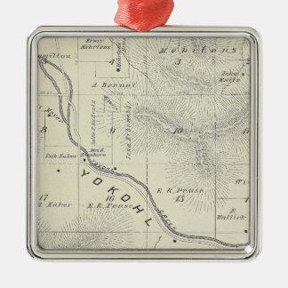 Mapa de la sección de T19S R27E el condado de Tula Adornos De Navidad