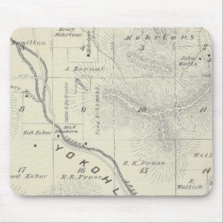 Mapa de la sección de T19S R27E el condado de Tula Alfombrillas De Ratones