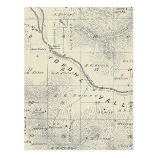 Mapa de la sección de T19S R27E el condado de Tula Tarjetas Postales