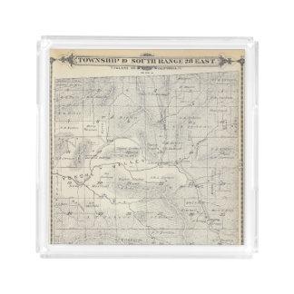 Mapa de la sección de T19S R28E el condado de Bandeja Cuadrada
