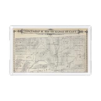 Mapa de la sección de T19S R28E el condado de Bandeja Rectangular