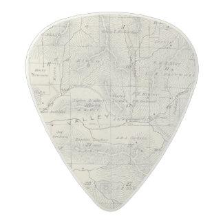 Mapa de la sección de T19S R28E el condado de Plectro De Acetal