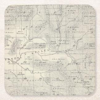 Mapa de la sección de T19S R28E el condado de Posavasos Desechable Cuadrado