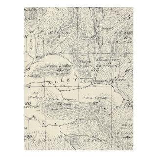 Mapa de la sección de T19S R28E el condado de Tarjeta Postal