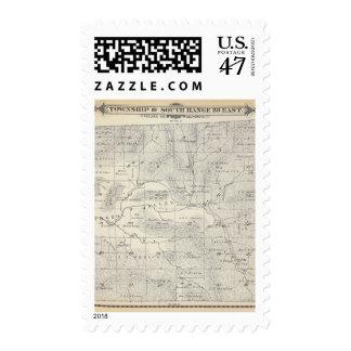 Mapa de la sección de T19S R28E el condado de Timbre Postal