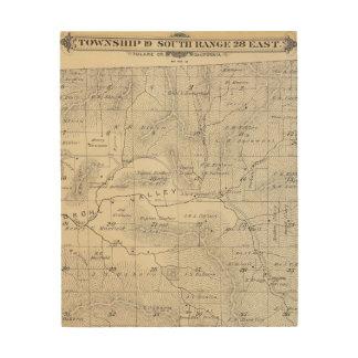 Mapa de la sección de T19S R28E el condado de Tula Cuadro De Madera