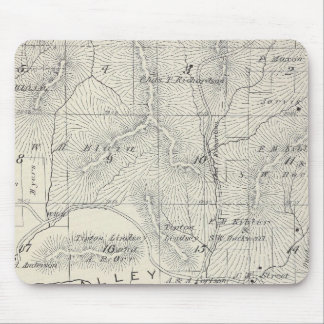 Mapa de la sección de T19S R28E el condado de Tula Mouse Pad