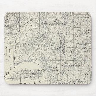 Mapa de la sección de T19S R28E el condado de Tula Alfombrilla De Ratón