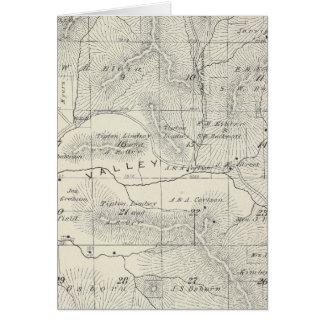 Mapa de la sección de T19S R28E el condado de Tula Tarjeta De Felicitación
