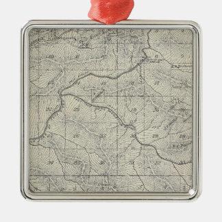 Mapa de la sección de T2021S R3031E el condado de Adorno Navideño Cuadrado De Metal